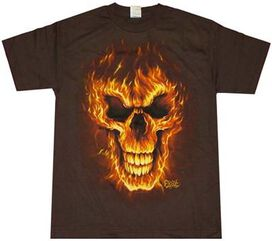 Exile Flame Skull T-Shirt