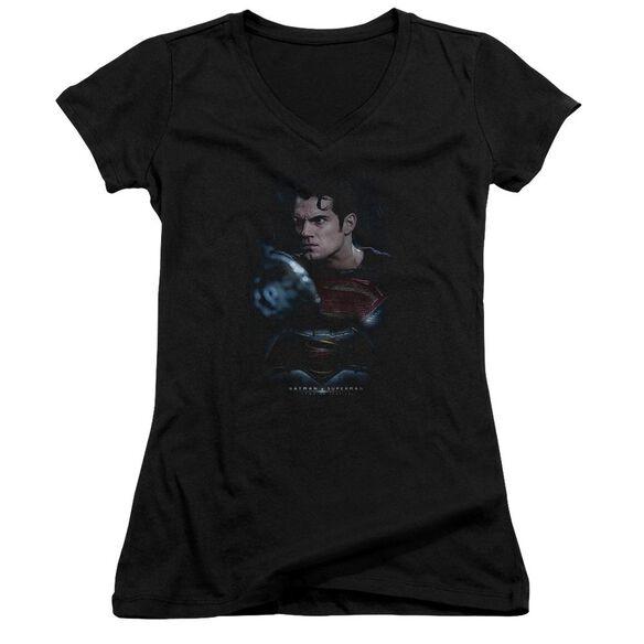 Batman V Superman Super Angry Junior V Neck T-Shirt
