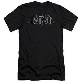 Beware The Batman B&W Logo Short Sleeve Adult T-Shirt