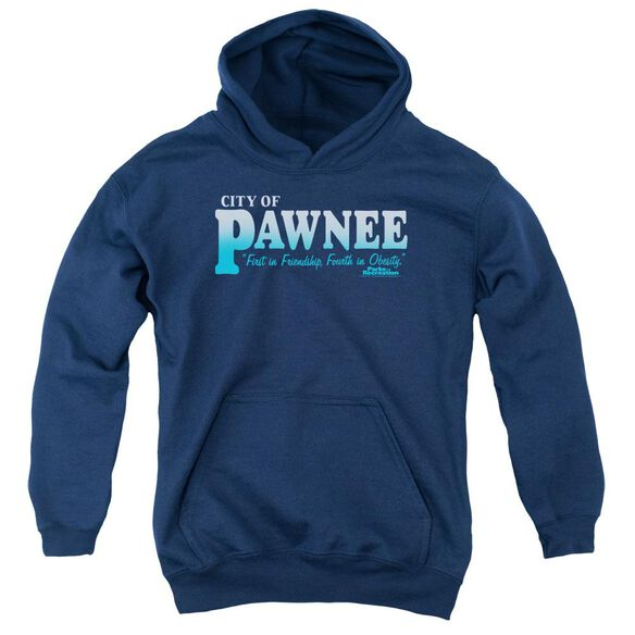Parks And Rec Pawnee Youth Pull Over Hoodie