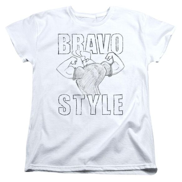 Johnny Bravo Bravo Style Short Sleeve Womens Tee T-Shirt