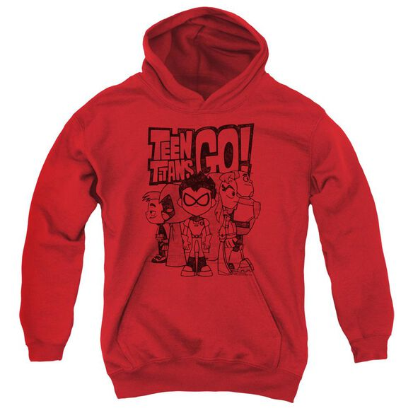 Teen Titans Go Team Up Youth Pull Over Hoodie