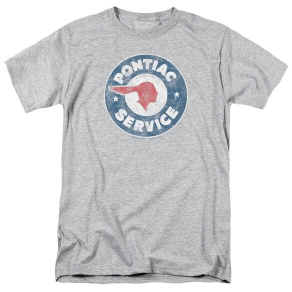 Pontiac Vintage Pontiac Service Short Sleeve Adult Athletic Heather T-Shirt