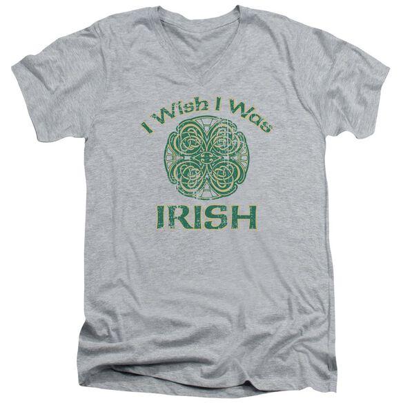 Irish Wish Short Sleeve Adult V Neck Athletic T-Shirt