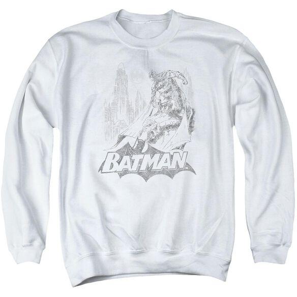 Batman Bat Sketch Adult Crewneck Sweatshirt