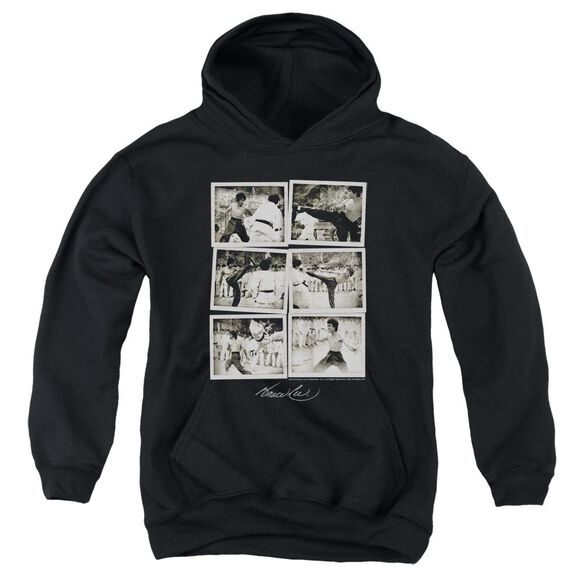 Bruce Lee Snap Shots Youth Pull Over Hoodie