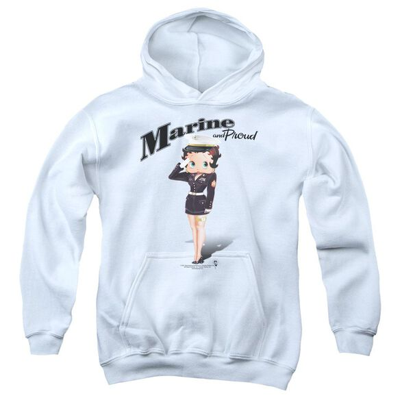 Betty Boop Marine Boop Youth Pull Over Hoodie