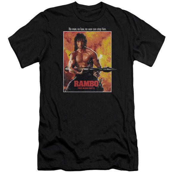 Rambo: First Blood Ii Poster Premuim Canvas Adult Slim Fit