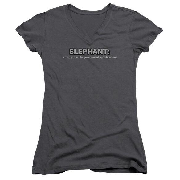 Elephant Junior V Neck T-Shirt