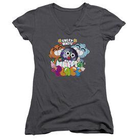 Amazing World Of Gumball Happy Place Junior V Neck T-Shirt