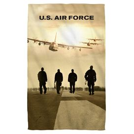 Air Force Long Walk Face Hand Towel