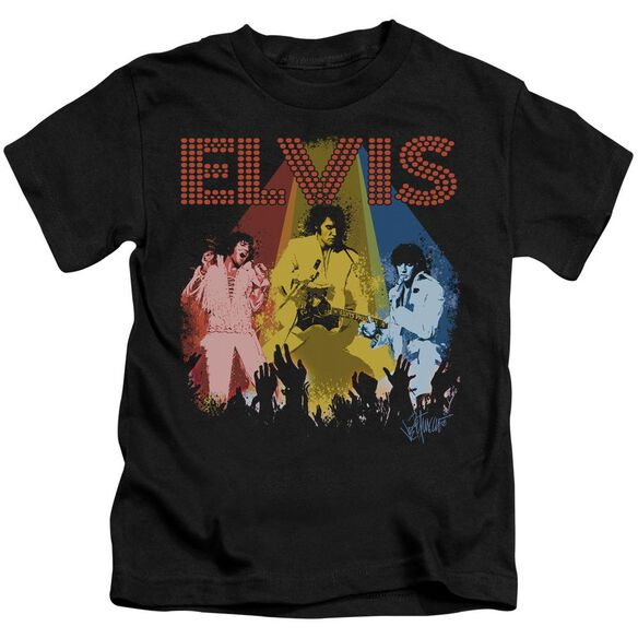 Elvis Vegas Remembered Short Sleeve Juvenile Black T-Shirt
