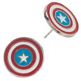 Avengers Captain America Spiderman 4 Pair Earrings Set