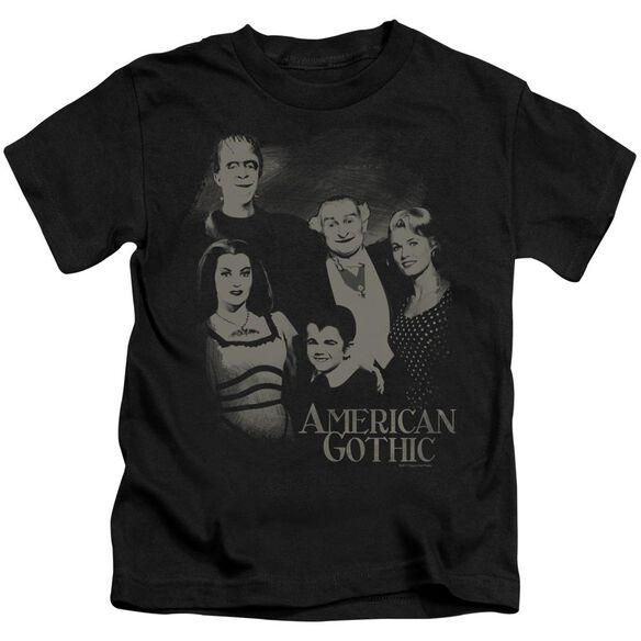 The Munsters American Gothic Short Sleeve Juvenile Black Md T-Shirt