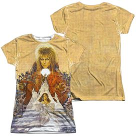 Labyrinth Cover Art (Front Back Print) Short Sleeve Junior Poly Crew T-Shirt