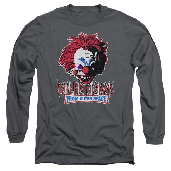 Killer Klowns From Outer Space Rough Clown Long Sleeve Adult T-Shirt