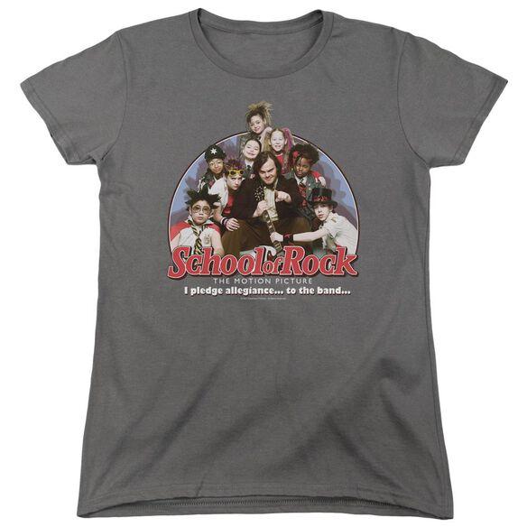 School Of Rock I Pledge Allegiance Short Sleeve Womens Tee T-Shirt