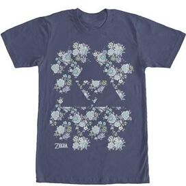 Zelda Triforce Floral T-Shirt