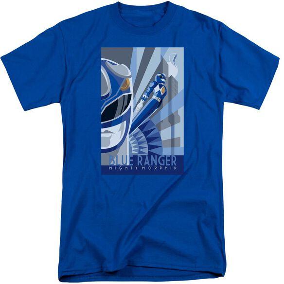 Power Rangers Ranger Deco Short Sleeve Adult Tall Royal T-Shirt