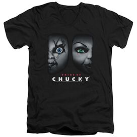 BRIDE OF CHUCKY HAPPY COUPLE - S/S ADULT V-NECK 30/1 T-Shirt
