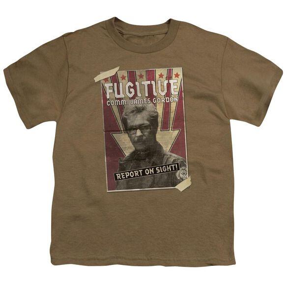 Dark Knight Rises Fugative Short Sleeve Youth Safari T-Shirt