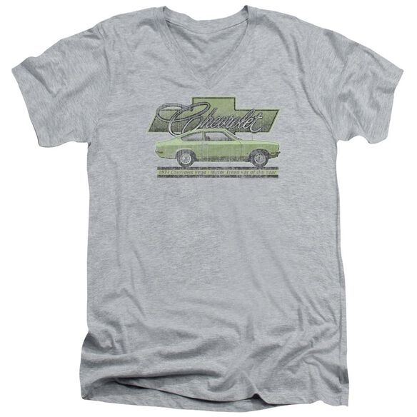 Chevrolet Vega Car Of The Year 71 Short Sleeve Adult V Neck Athletic T-Shirt
