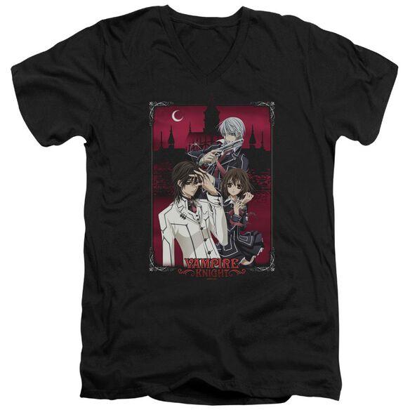 Vampire Knight Castle Pose Short Sleeve Adult V Neck T-Shirt
