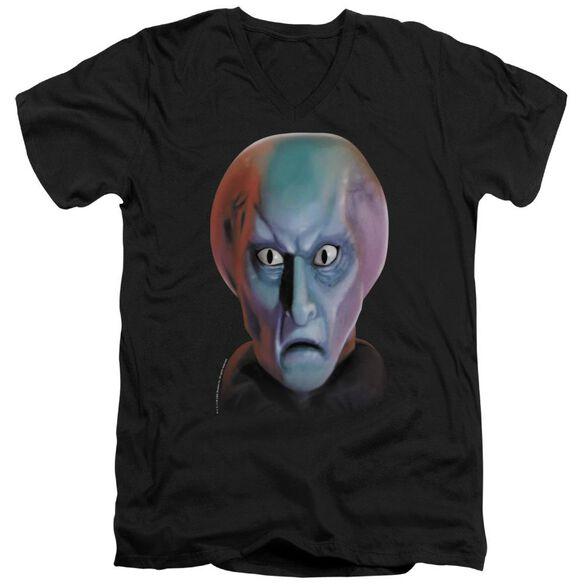 Star Trek Balok Head Short Sleeve Adult V Neck T-Shirt