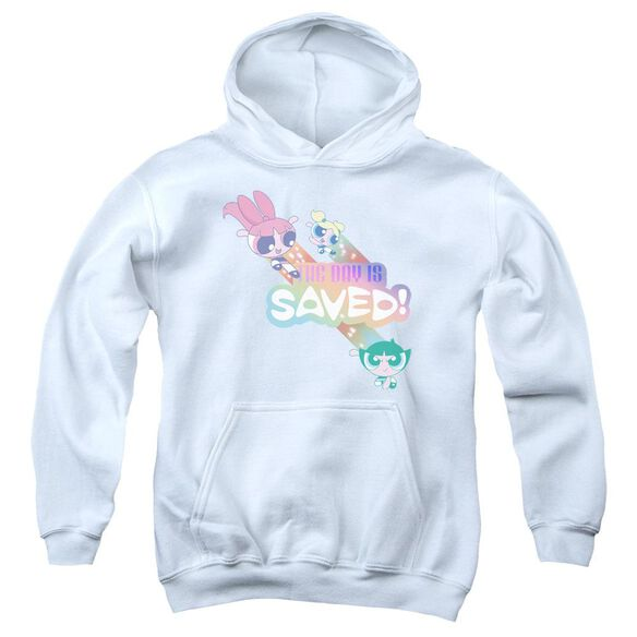 Powerpuff Girls The Day Is Saved Youth Pull Over Hoodie