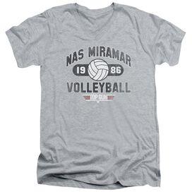 TOP GUN NAS MIRAMAR VOLLEYBALL - S/S ADULT V-NECK - ATHLETIC HEATHER T-Shirt