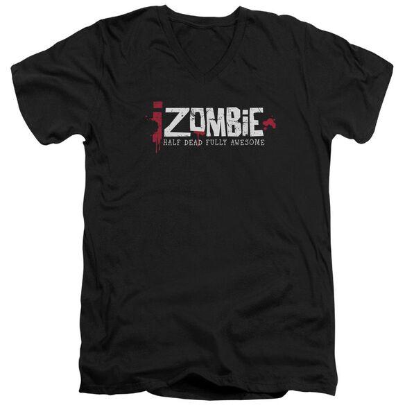 Izombie Logo Short Sleeve Adult V Neck T-Shirt