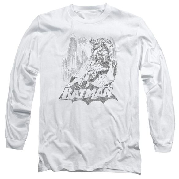 Batman Bat Sketch Long Sleeve Adult T-Shirt