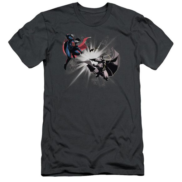 Batman V Superman Fight Burst Short Sleeve Adult T-Shirt
