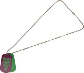 Joker Two Color Dog Tag Necklace