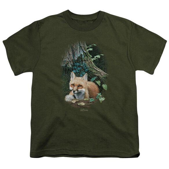 Wildlife Cozy Retreat Short Sleeve Youth Military T-Shirt
