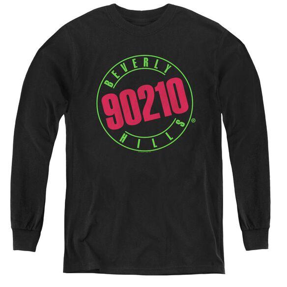 90210 Neon - Youth Long Sleeve Tee - Black