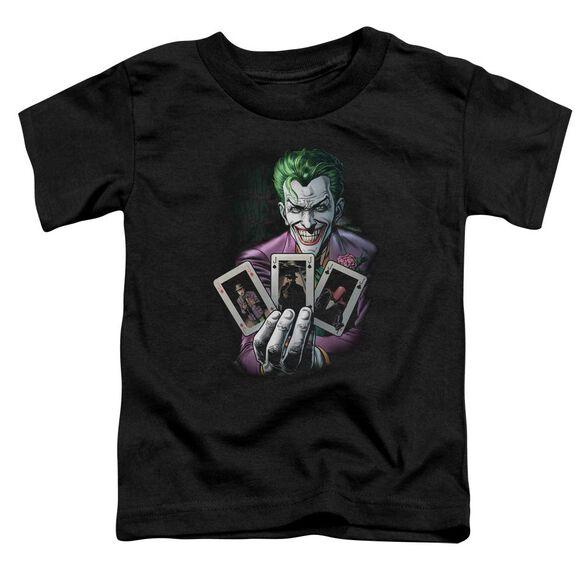 Batman 3 Of A Kind Short Sleeve Toddler Tee Black T-Shirt
