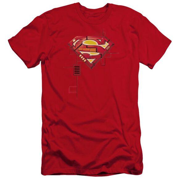 Superman Super Mech Shield Premuim Canvas Adult Slim Fit