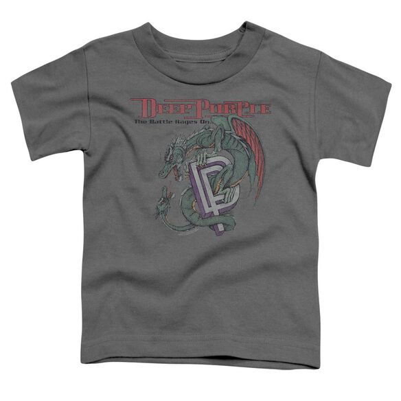 Deep Purple The Battle Rages On Short Sleeve Toddler Tee Charcoal T-Shirt