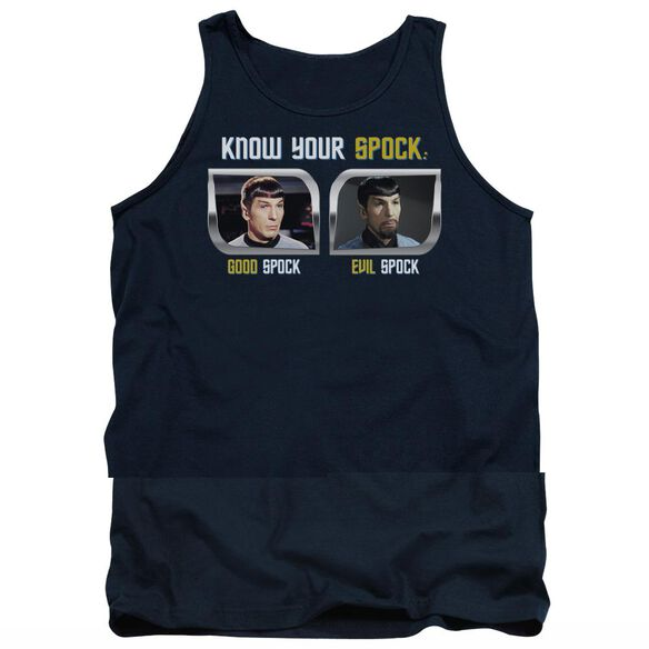 St Original Know Your Spock - Adult Tank - Navy