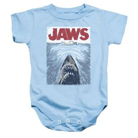 Jaws Graphic Poster Infant Snapsuit Light Blue Md