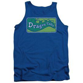 Dragon Tales Logo Clean Adult Tank Royal