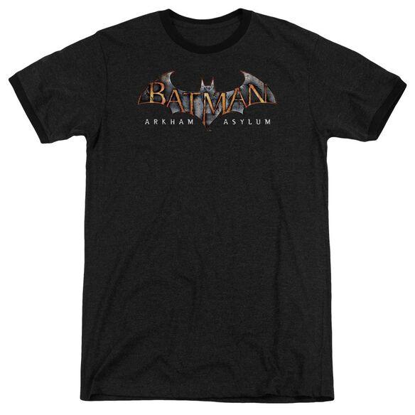 Batman Aa Arkham Asylum Logo - Adult Heather Ringer