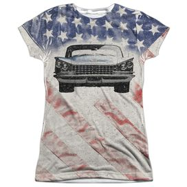 Buick 1959 Electra Flag Short Sleeve Junior Poly Crew T-Shirt