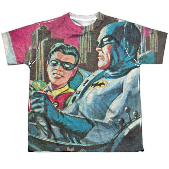 Batman Classic Tv Bat Signal Short Sleeve Youth Poly Crew T-Shirt