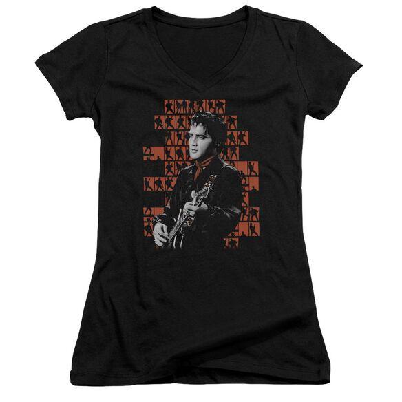 Elvis 1968 Junior V Neck T-Shirt