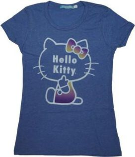 Hello Kitty Gradient Bow Juniors T-Shirt