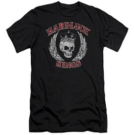 Hardluck Kings Red Letter Distressed Short Sleeve Adult T-Shirt