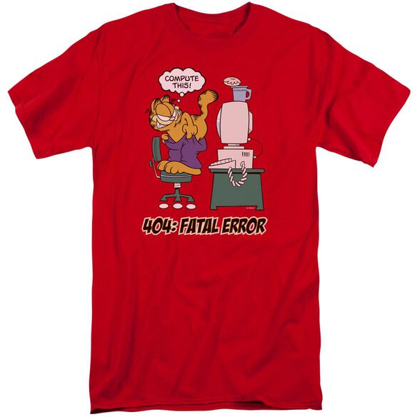 Garfield Compute This Short Sleeve Adult Tall T-Shirt