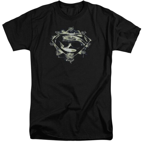 Man Of Steel Skulls And Symbols Short Sleeve Adult Tall T-Shirt
